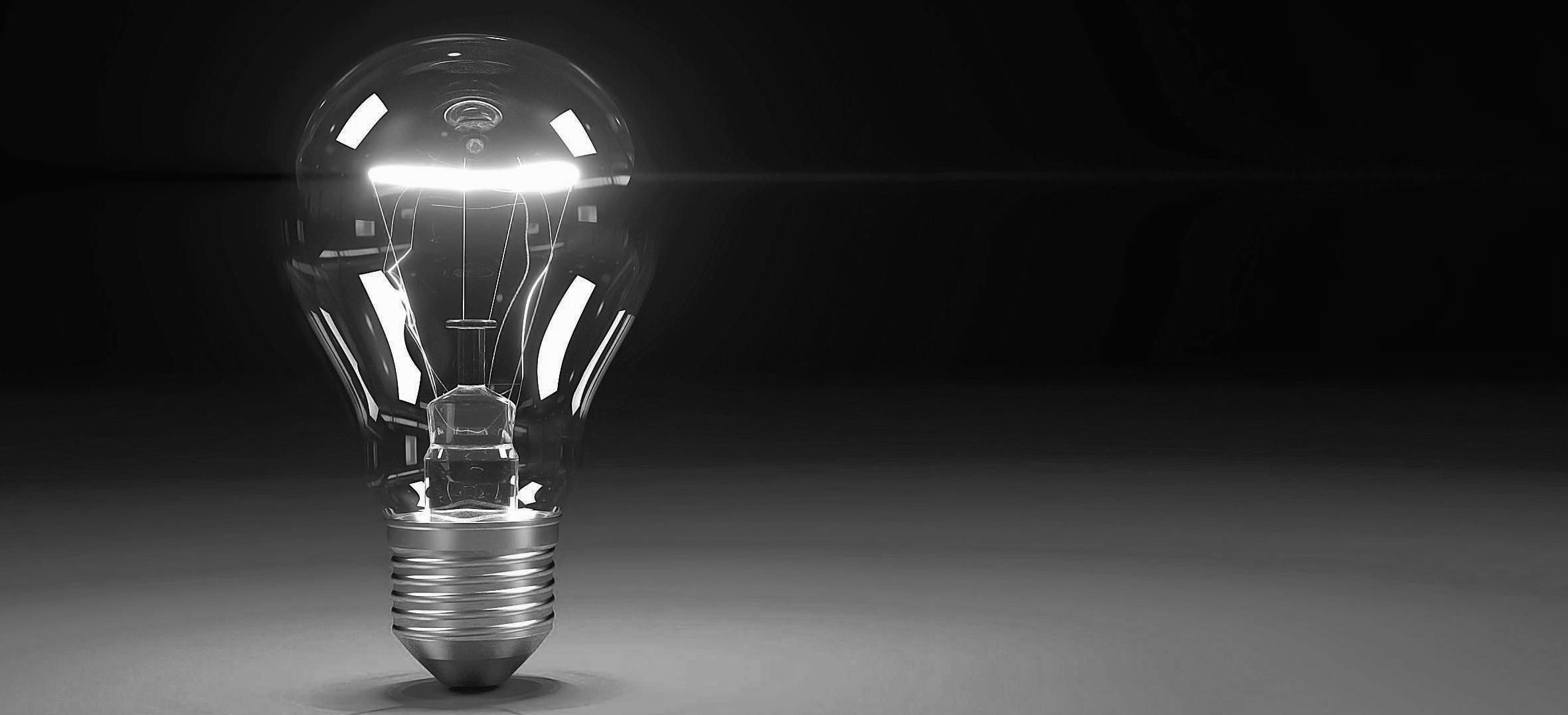 Lightbulb new ideas concepts trends