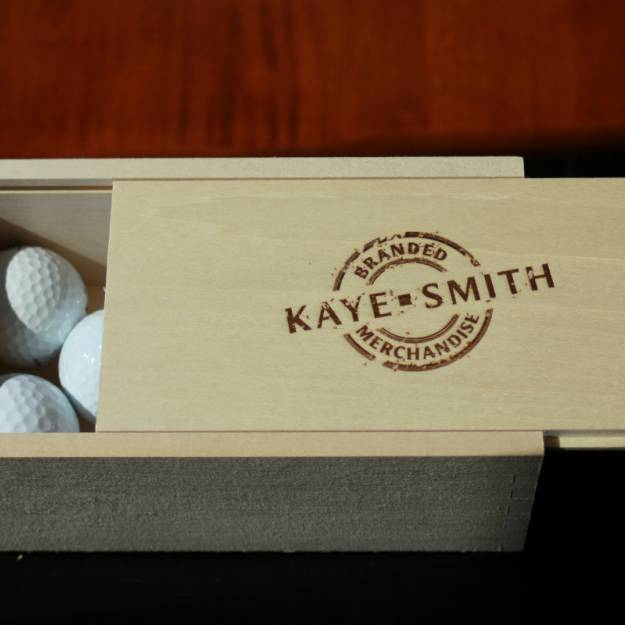 Kaye-Smith Branded Merchandise Promotional Products Golf Ball Box